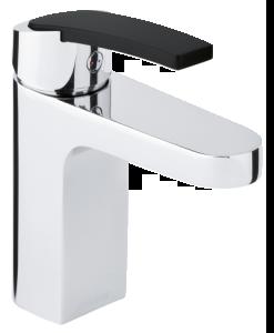 Slate Håndvaskarmatur (Krom/Sort)