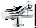 Danish designed Titan 2-grip basin mixer with pop up waste