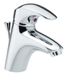 Space Basin Mixer with pop up waste