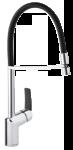 Slate Pro Küchenarmatur in Chrom / Schwarz
