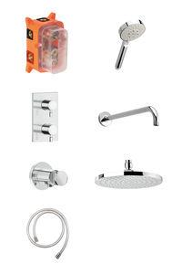 Hilina HS 1 - Complete concealed shower system (Chrome/Silverhose)