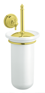 Tradition Toilet Brush and Holder (Polished Brass PVD)