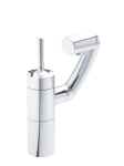 Damixa Arc basin/bidet mixer with pop up waste in chrome