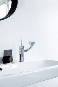 Arc Tvättställs- och bidéblandare med Pop-up bottenventil (Krom/Svart)