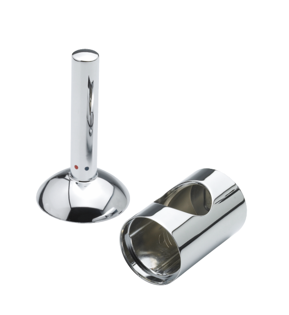 Damixa Arc cap and handle for kitchen and basin mixer in chrome