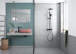 Matsort høj håndvask vandhane og bruser fra Damixa Silhouet serien