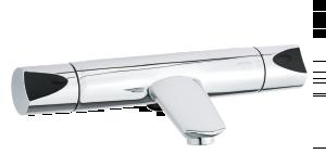 Slate Thermixa 200 termostatarmatur kar/bruser (Krom/Sort)