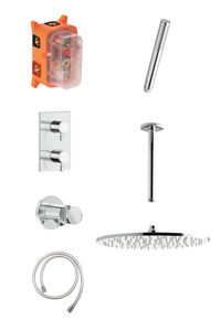 Concealed Eliza HS 2 - Complete concealed shower system (Chrome/Silverhose)