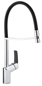 Slate Pro Kitchen Mixer (Chrome/Black)