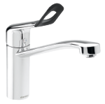 Damixa kitchen mixer with a handicap friendly handle