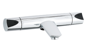 Slate Thermixa 200 Termostatblandare badkar (Krom/Svart)