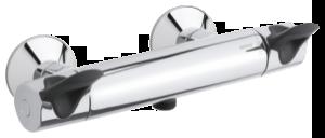 Clover Easy Thermixa 300 Termostatarmatur bruser med care-greb (Krom/Sort)