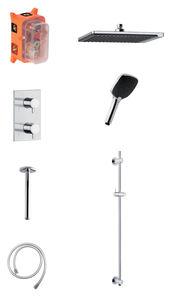 Slate SR2 - Complete concealed shower system (Chrome/Black)