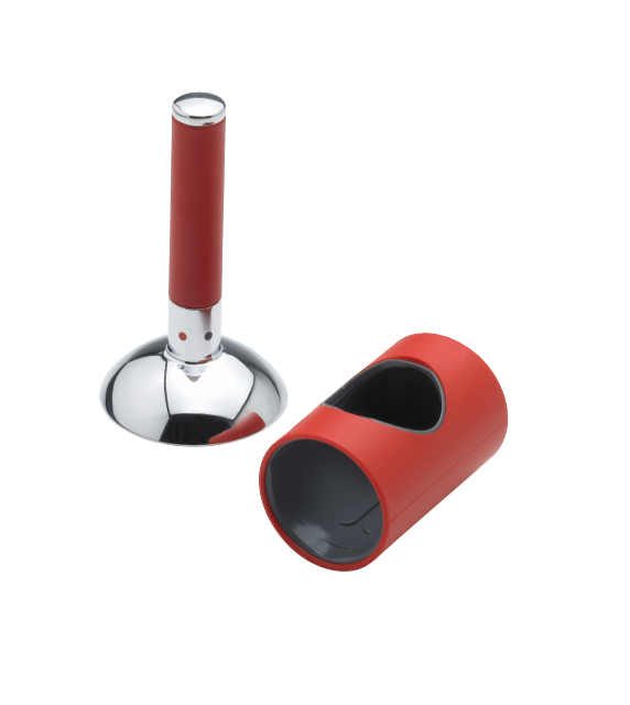 Damixa Arc cap and handle in chrome/red