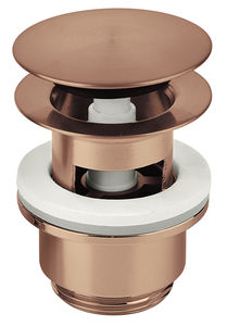 Bathroom Accessories Pop Up Waste with click-function (Brushed Copper PVD)