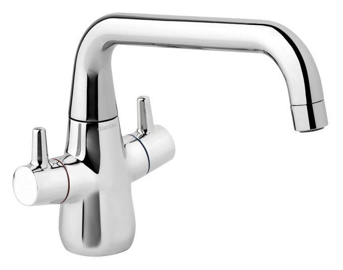 Bell is a danish designed Kitchen mixer in chrome.