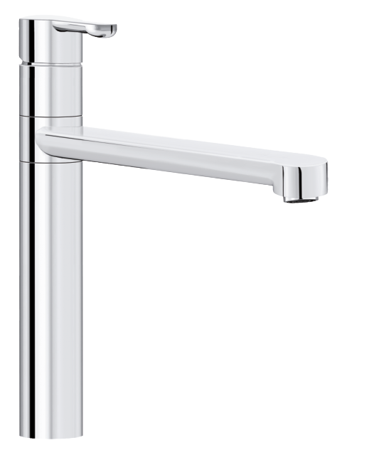 Damixa Willow kitchen mixer is a one-griped tap in chrome