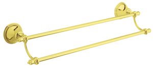 Tradition Twin Towel Rail (Polished Brass PVD)