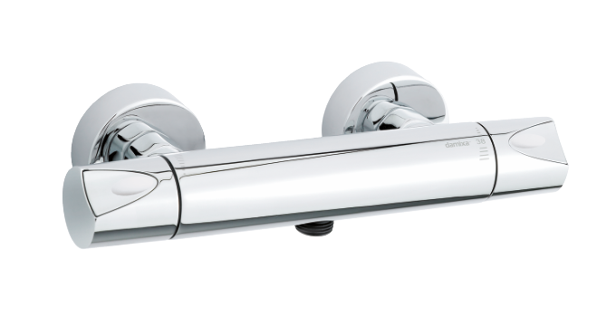 Danish Thermostatic shower mixer from the Clover Green product line.